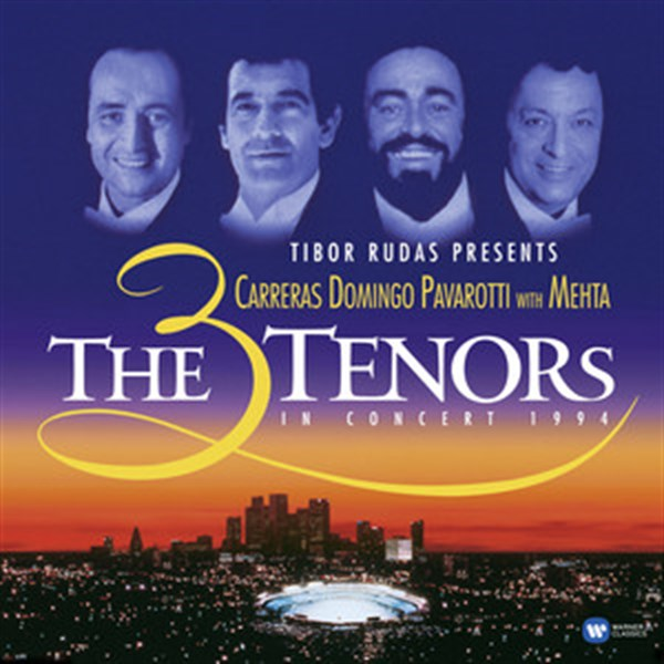 TIBOR RUDAS PRESENTS CARRERAS DOMINGO PAVAROTTI WITH MEHTA - THE 3 TENORS IN CONCERT 1994